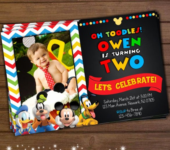Mickey Mouse 2nd Birthday Invitations Best Of 31 Mickey Mouse Invitation Templates Free Sample