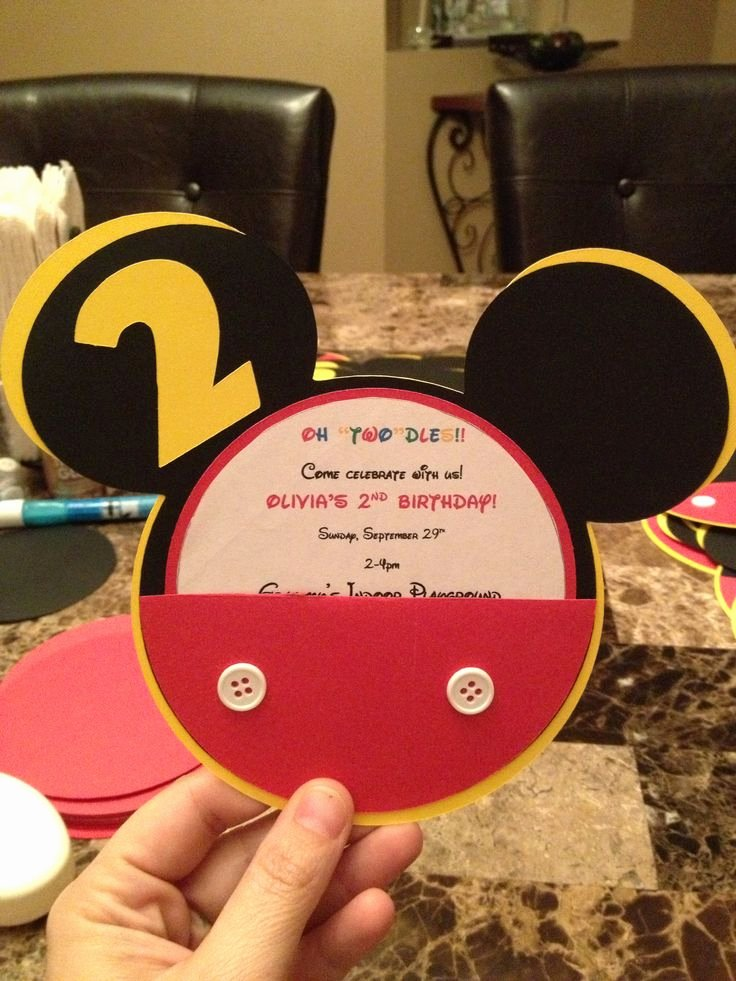Mickey Mouse 2nd Birthday Invitations Best Of Best 25 2nd Birthday Invitations Ideas On Pinterest