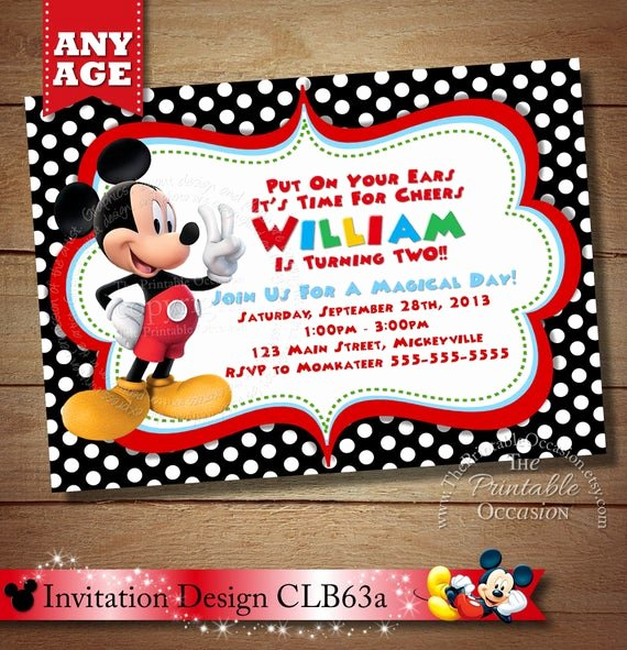 huge selection mickey mouse invitation second