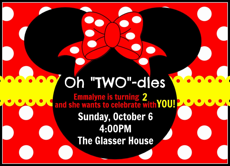 Mickey Mouse 2nd Birthday Invitations Fresh October 8 2013