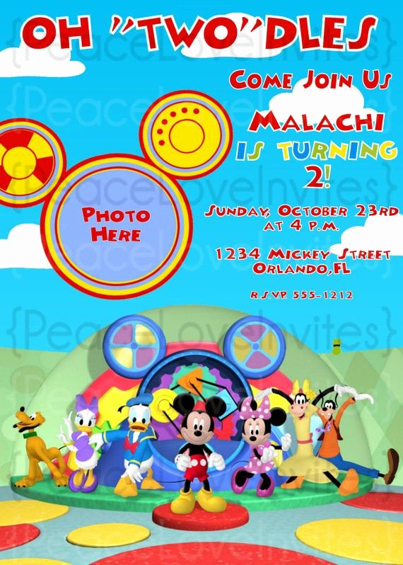 """Mickey Mouse 2nd Birthday Invitations Inspirational Oh """"two""""dles Not so Much On the Actual Invite but I Like"""