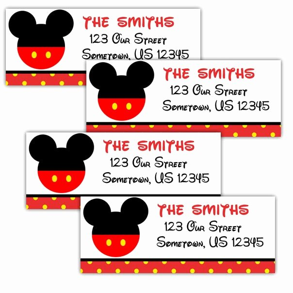 Mickey Mouse Address Label Beautiful Mickey Mouse Head Personalized Address Labels Stickers