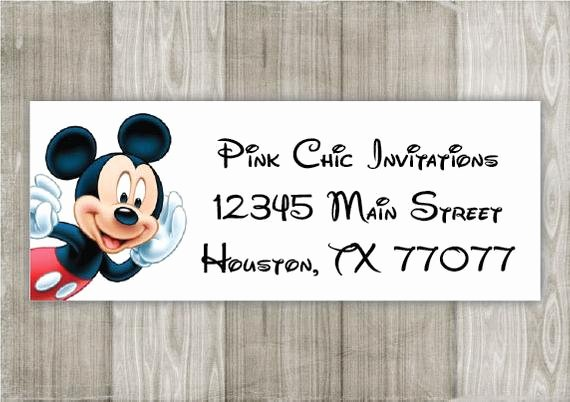 Mickey Mouse Address Label Best Of Mickey Mouse Return Address Labels Custom by