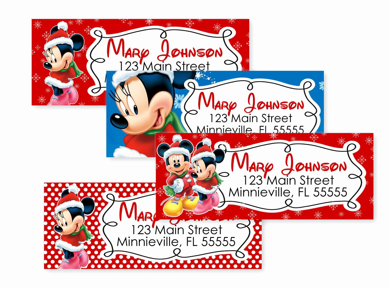 Mickey Mouse Address Label Best Of Minnie Mouse and Mickey Mouse Christmas by