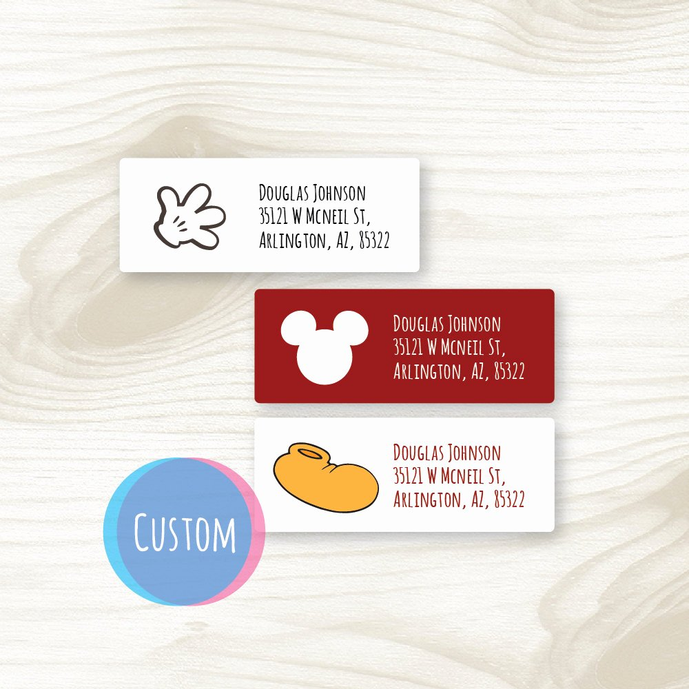 Mickey Mouse Address Label Elegant Custom Mickey Return Address Labels Printable Mickey Mouse