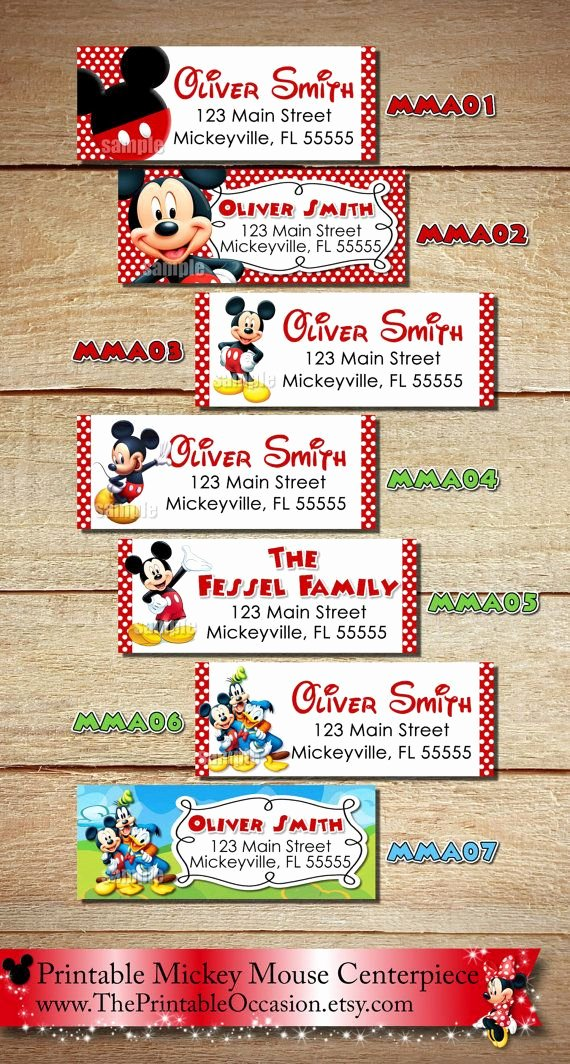Mickey Mouse Address Label Fresh Clubhouse Return Address Stickers Clubhouse Return