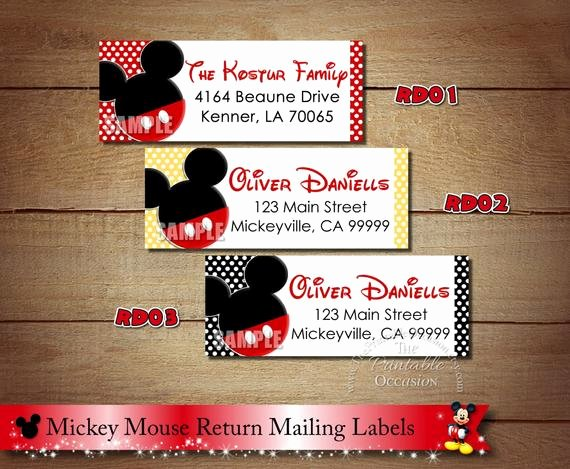 Mickey Mouse Address Label Fresh Mickey Mouse Return Address Labels Minnie Mouse Return