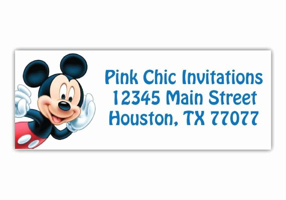 Mickey Mouse Address Label Fresh Mickey Mouse Return Address Labels