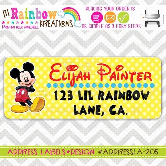 Mickey Mouse Address Label Inspirational Addressla 205 Diy Mickey Mouse Address Labels