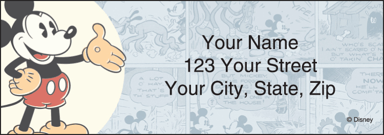 mickey mouse address labels