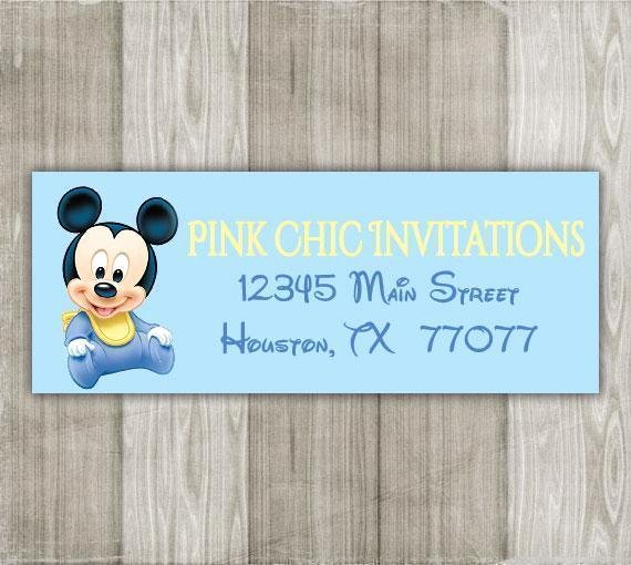 Mickey Mouse Address Label Lovely Baby Mickey Mouse Return Address Labels
