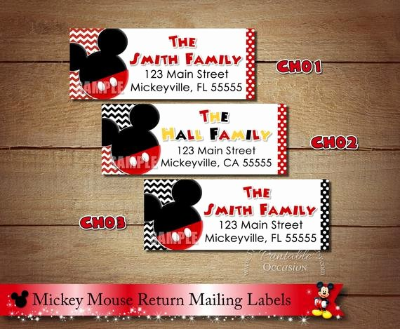 Mickey Mouse Address Label Lovely Mickey Mouse Return Address Labels Chevron Mickey Mouse