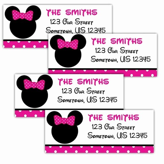 Mickey Mouse Address Label Lovely Minnie Mouse Head Personalized Address Labels Stickers