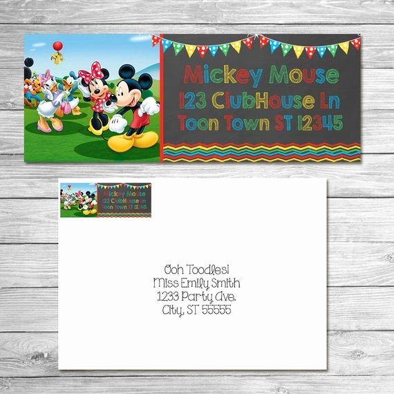 Mickey Mouse Address Label New Mickey Mouse Clubhouse Return Address Labels 1 X 2 5 8 In