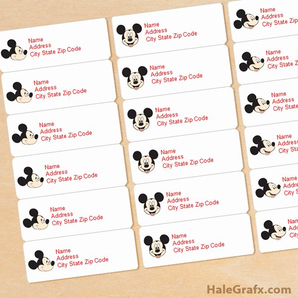 Mickey Mouse Address Label Unique Free Printable Mickey Mouse Address Labels
