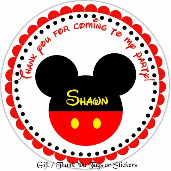 Mickey Mouse Address Label Unique Mickey Mouse Head Personalized Stickers Party Favor Tags
