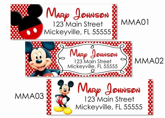 Mickey Mouse Address Label Unique Yes totally Ting these Red Yellow Black Mickey Mouse