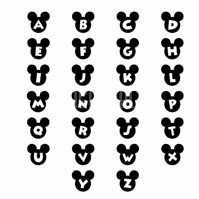 Mickey Mouse Alphabet Letters Best Of Wall Stickers Mickey Personalized Name Wall Decals