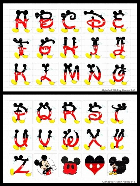Mickey Mouse Alphabet Letters Fresh Mickey Mouse Alphabet 30 Precut Tiles Image by Bowsbykika