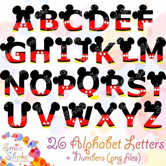 Mickey Mouse Alphabet Letters Inspirational 36 Png Mickey Alphabet Letters Mouse Digital Letters Por