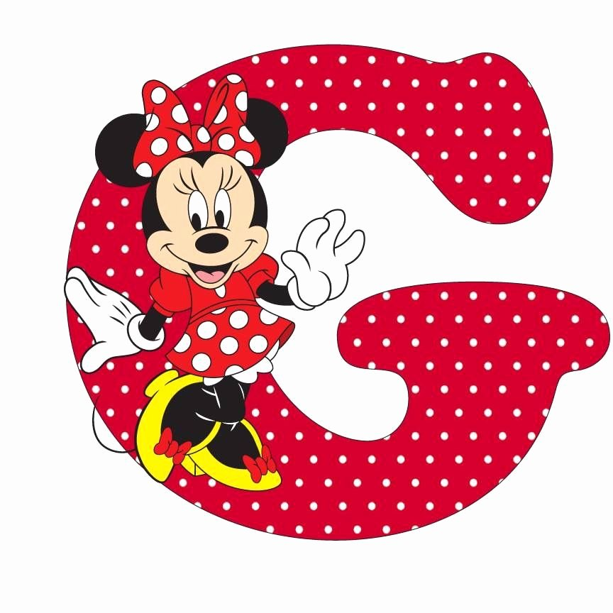 Mickey Mouse Alphabet Letters Lovely Minnie and the Letter G G for My Names