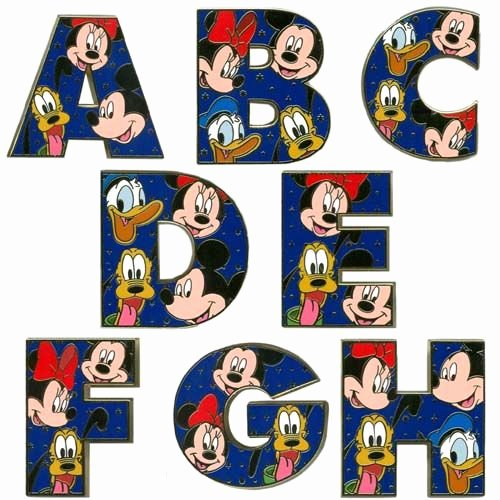 Mickey Mouse Alphabet Letters Luxury Mickey Mouse Abc Abc2xyz Pinterest