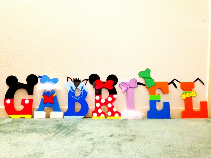 Mickey Mouse Alphabet Letters New 1000 Images About Diy Letters On Pinterest