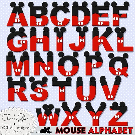 Mickey Mouse Alphabet Letters New Mouse Alphabet Letters Mouse Digital Letters Mouse