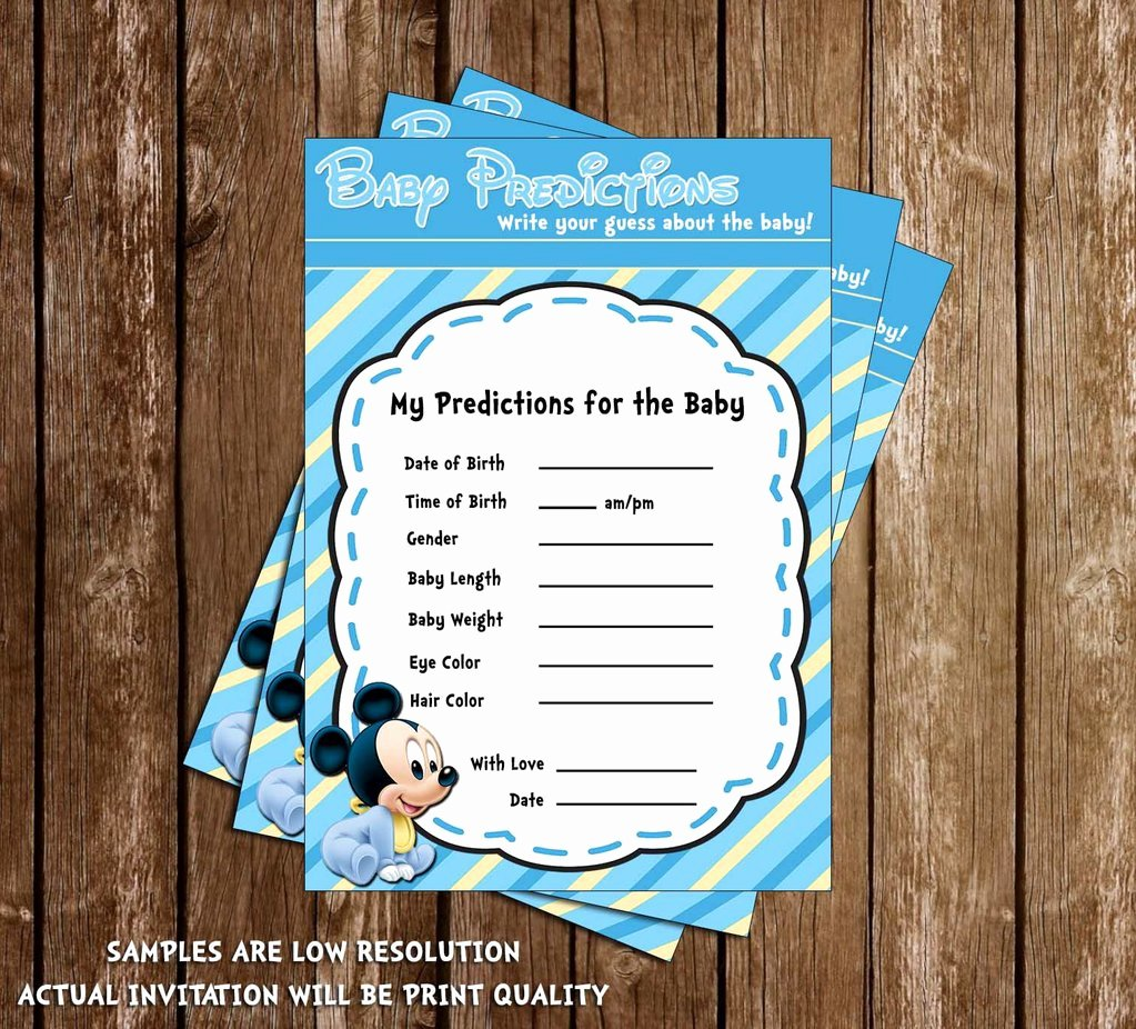 Mickey Mouse Baby Shower Invitation Awesome Novel Concept Designs Mickey Mouse Baby Boy Baby