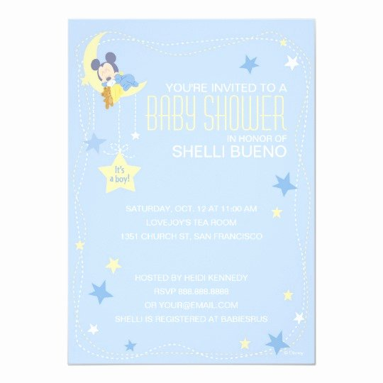 Mickey Mouse Baby Shower Invitation Beautiful Baby Mickey Mouse Baby Shower Invitation