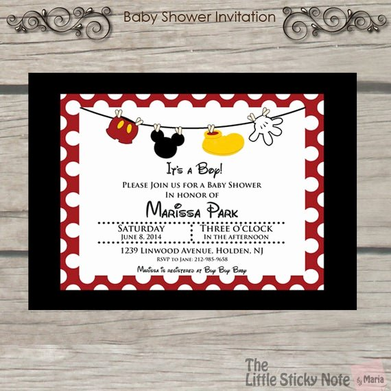 Mickey Mouse Baby Shower Invitation Best Of Items Similar to Mickey Mouse Baby Shower Invitations On Etsy