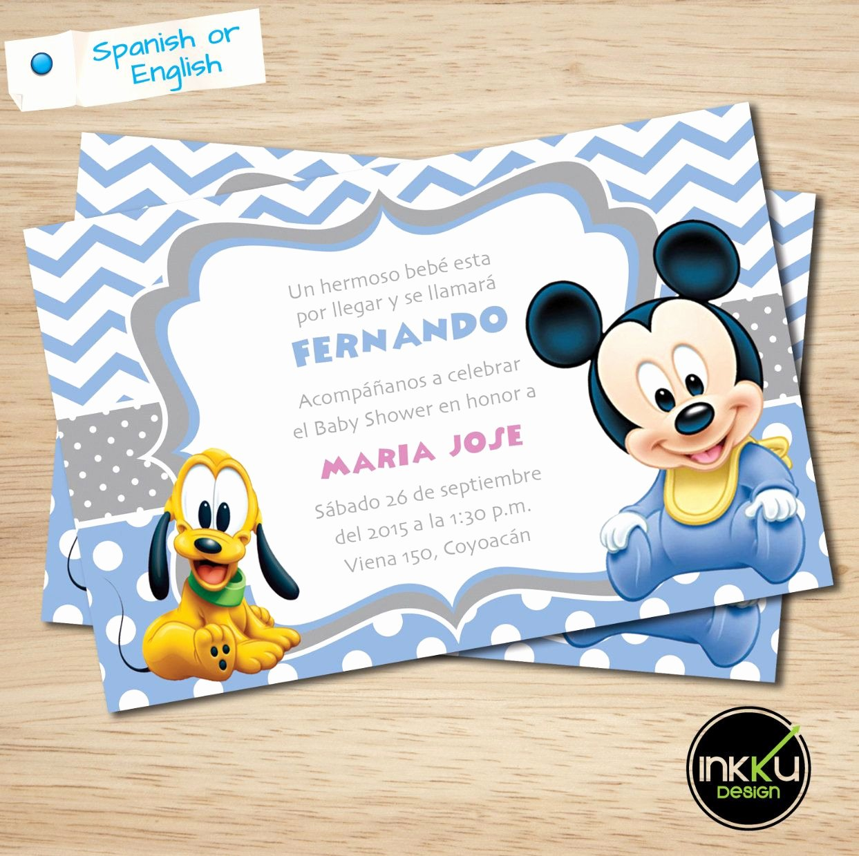 Mickey Mouse Baby Shower Invitation Fresh Mickey Mouse Baby Shower Invite Mickey Mouse Baby Shower