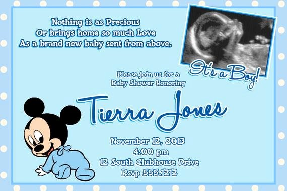 Mickey Mouse Baby Shower Invitation Lovely Mickey Mouse Baby Shower Invitations Baby Mickey Mouse Baby