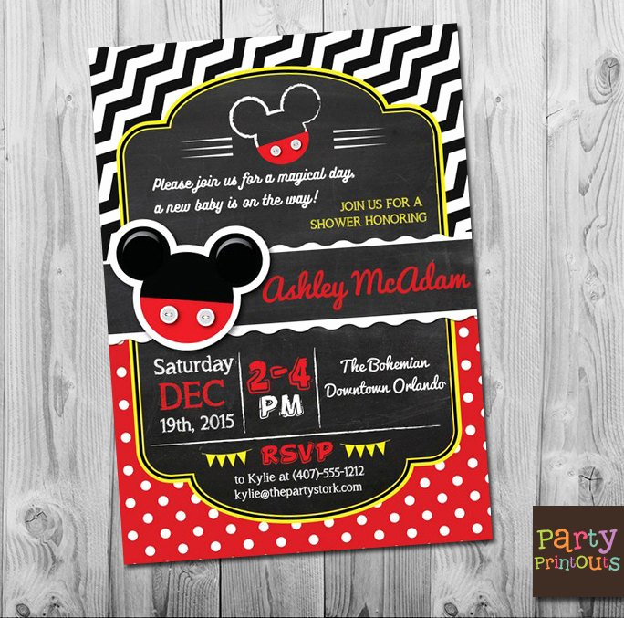 Mickey Mouse Baby Shower Invitation Lovely Mickey Mouse Baby Shower Invitations Mickey Mouse Baby
