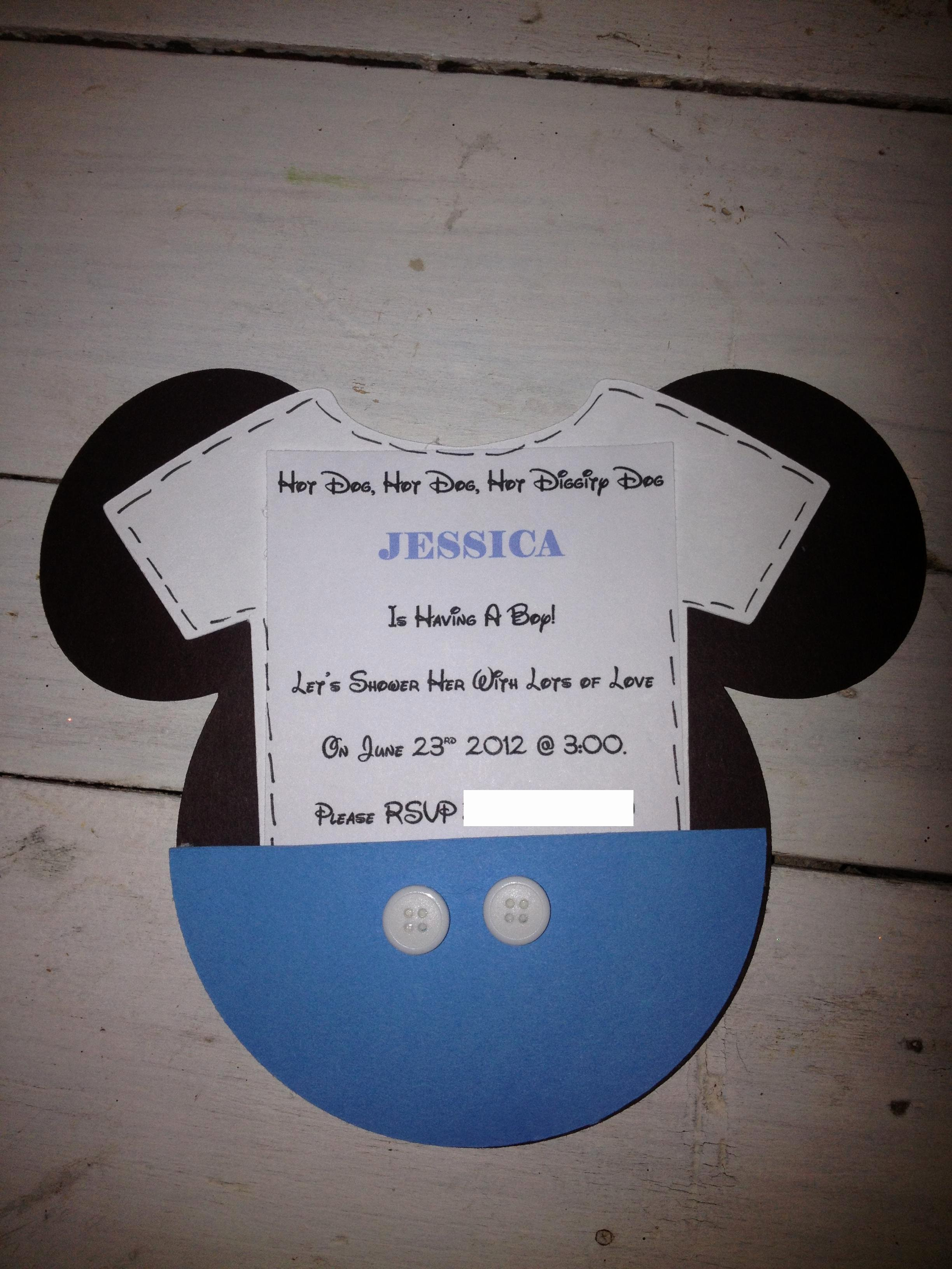 Mickey Mouse Baby Shower Invitation Lovely Mickey Mouse Inspired Baby Shower Easy Peasy Pleasy