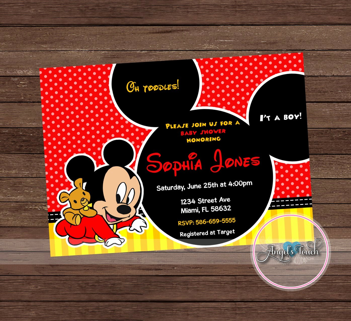 Mickey Mouse Baby Shower Invitation Luxury Mickey Mouse Baby Shower Invitation Mickey Mouse Baby
