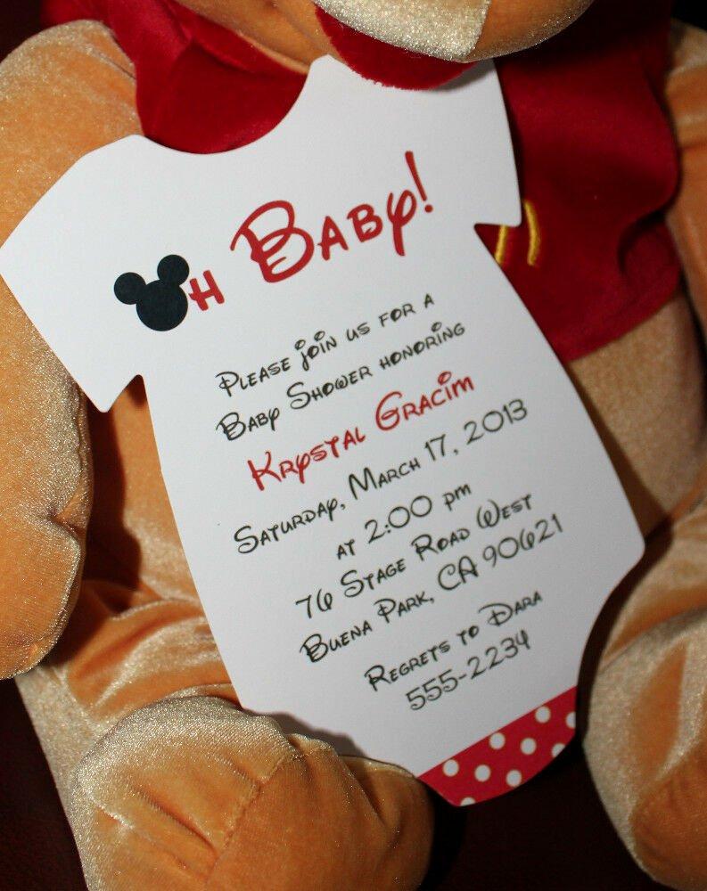 Mickey Mouse Birthday Invitations Wording Awesome Mickey Mouse Baby Shower Invitation All Wording