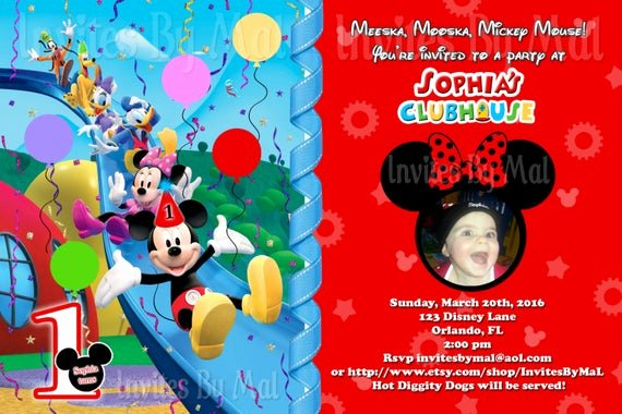 Mickey Mouse Birthday Invitations Wording Awesome Mickey Mouse Clubhouse Birthday Invitation with by
