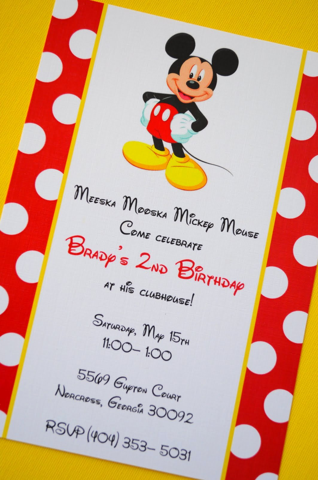 Mickey Mouse Birthday Invitations Wording Best Of Mickey Mouse Birthday Invitations Ideas and Template