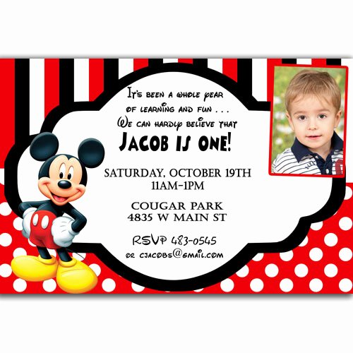 Mickey Mouse Birthday Invitations Wording Elegant Free Printable Mickey Mouse Invitatons Birthday