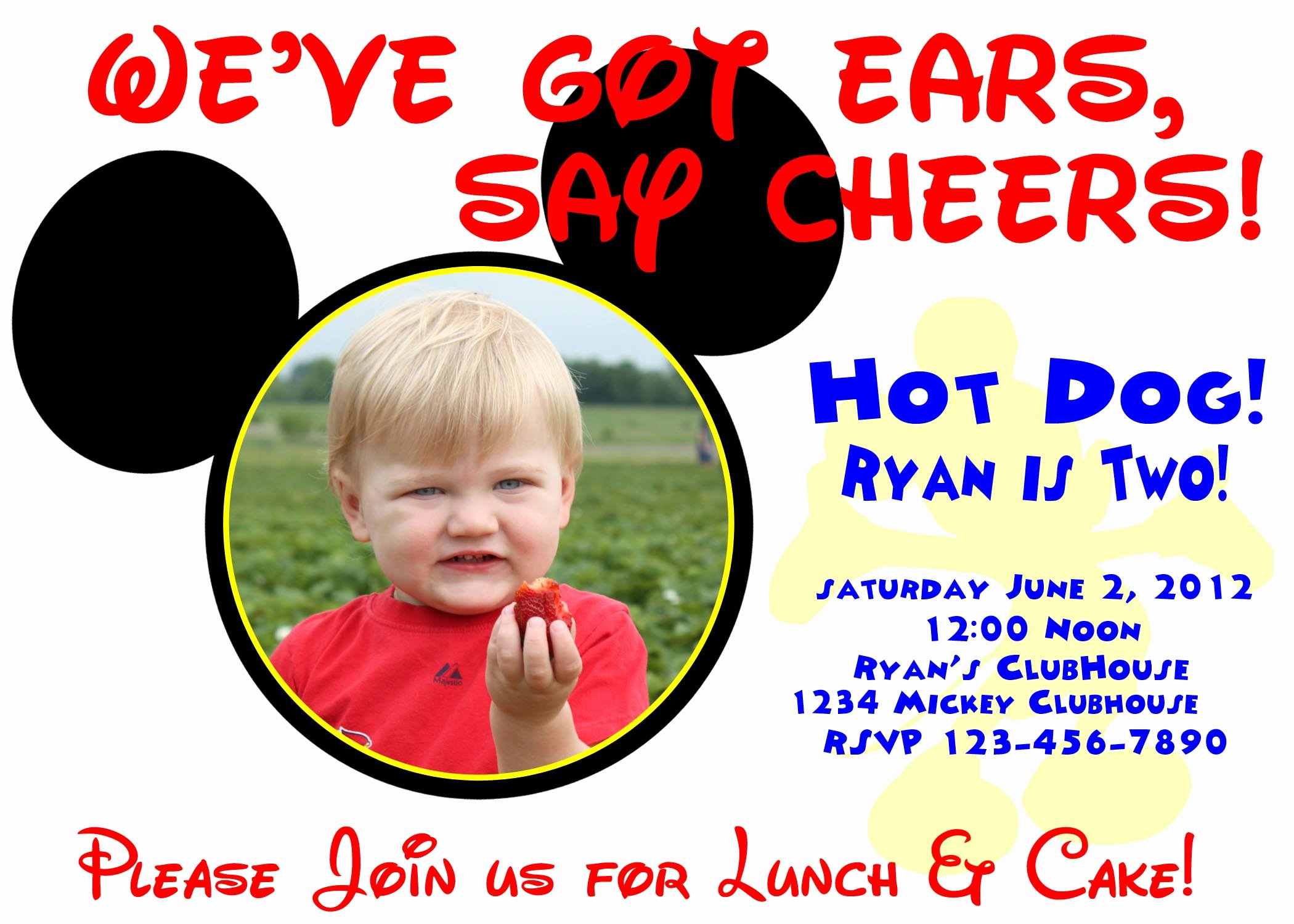 Mickey Mouse Birthday Invitations Wording Fresh Mickey Mouse Birthday Invitation On Storenvy