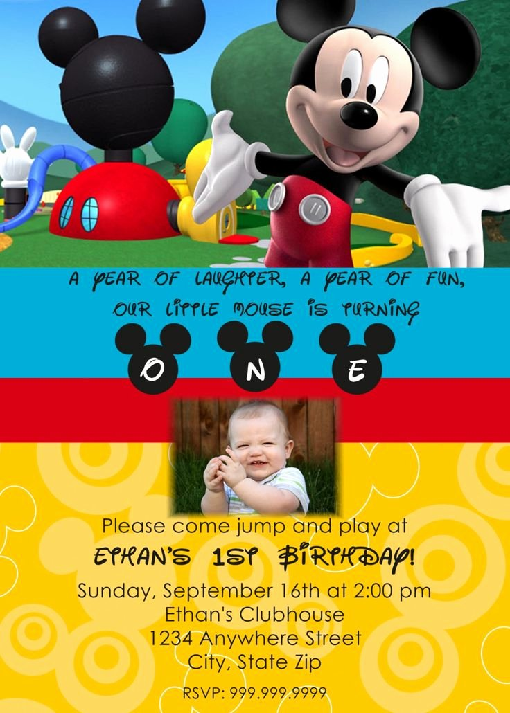 Mickey Mouse Birthday Invitations Wording Fresh Mickey Mouse Clubhouse Printable Invitations Template