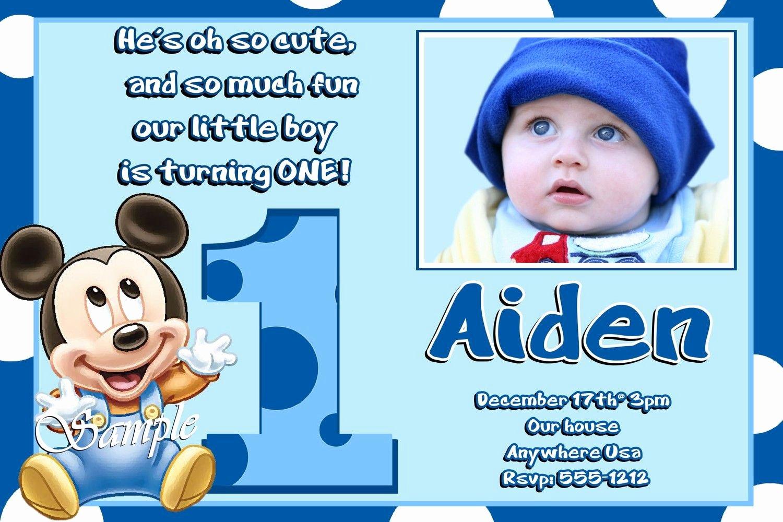 Mickey Mouse Birthday Invitations Wording Inspirational Mickey Mouse 1st Birthday Invitations Wording