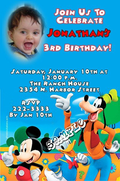 Mickey Mouse Birthday Invitations Wording Lovely Mickey Mouse Clubhouse 2 Birthday Invitation