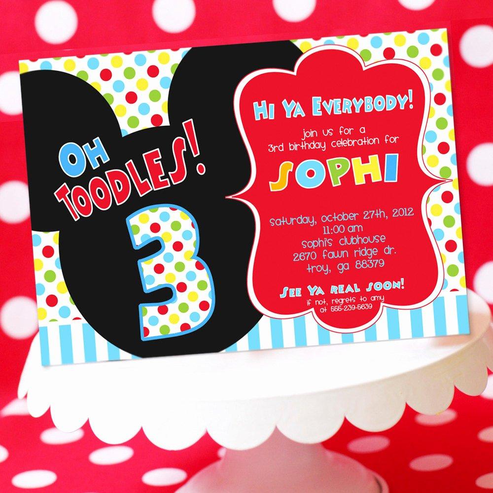 Mickey Mouse Birthday Invitations Wording New Mickey Mouse Birthday Invitation Mickey by Amandaspartiestogo