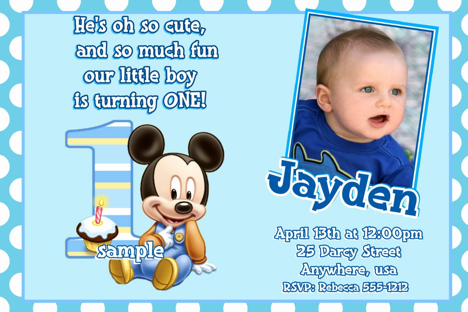 Mickey Mouse Birthday Invitations Wording Unique Mickey Mouse 1st Birthday Invitation Wording Ideas – Free