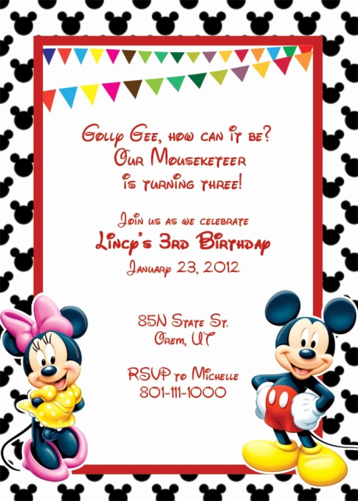 Mickey Mouse Blank Invitations Awesome Blank Mickey Mouse Invitation Template