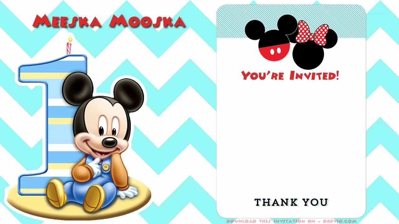 Mickey Mouse Blank Invitations Elegant Free Printable Mickey Mouse Invitations Exclusive