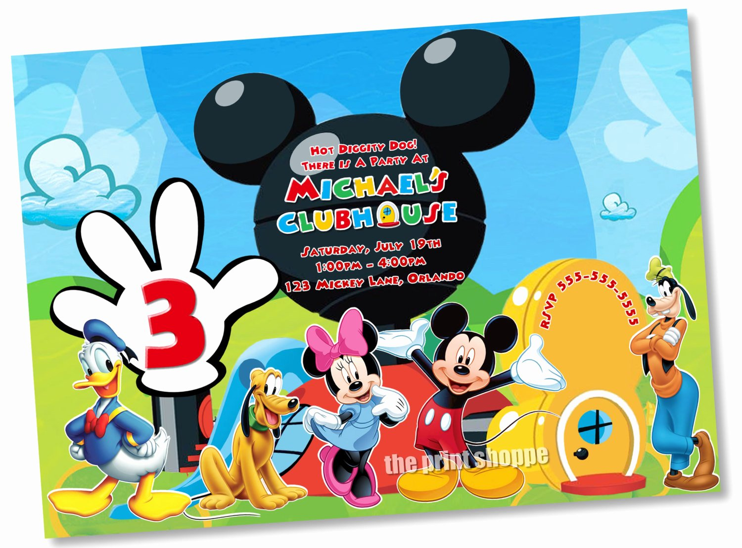 Mickey Mouse Blank Invitations Lovely Mickey Mouse Clubhouse Blank Invitations