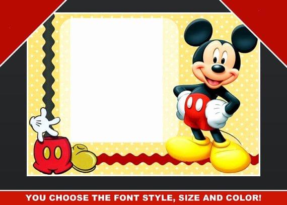 Mickey Mouse Blank Invitations Luxury Blank Mickey Mouse Birthday Invitation